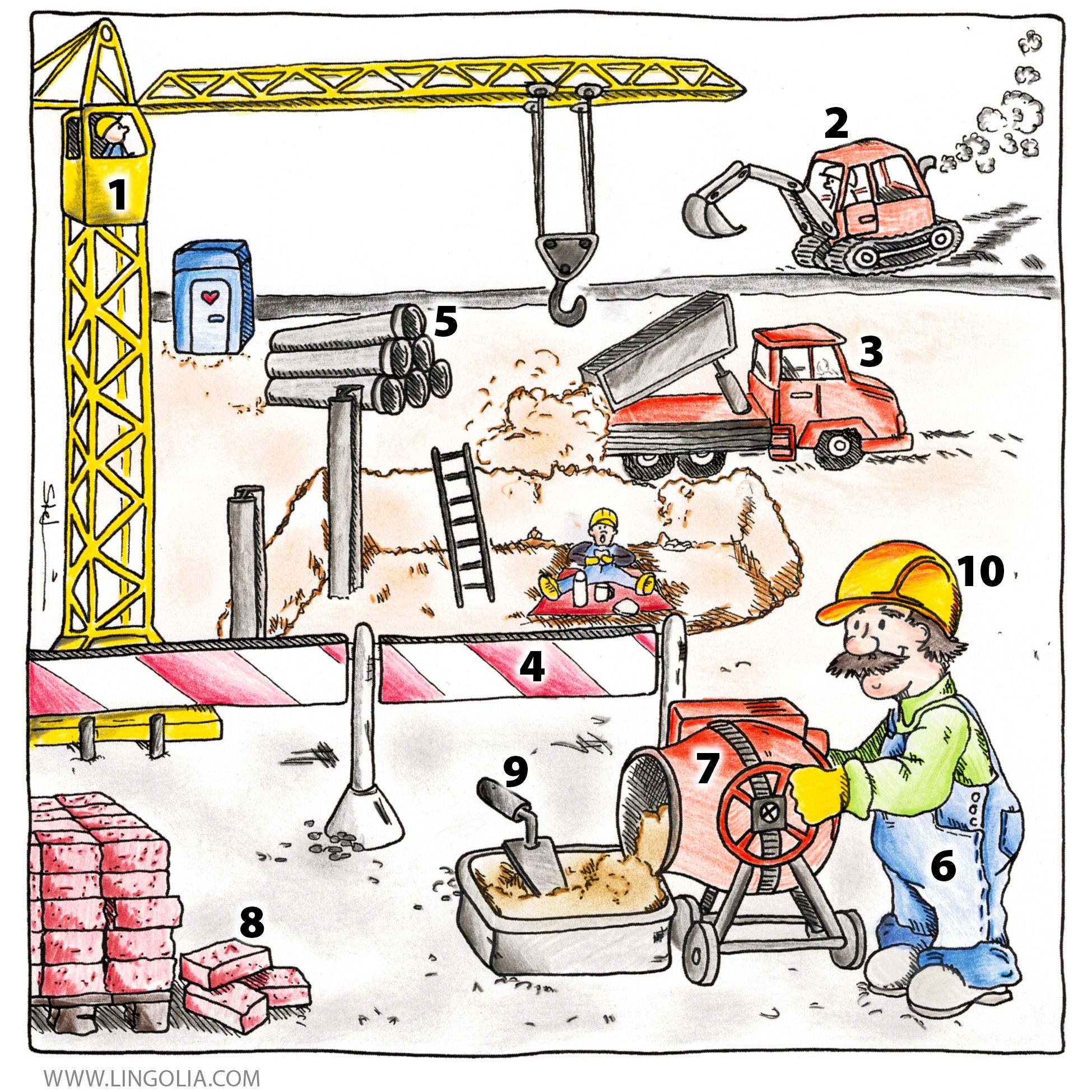 Auf der Baustelle - Lingolia Spanisch