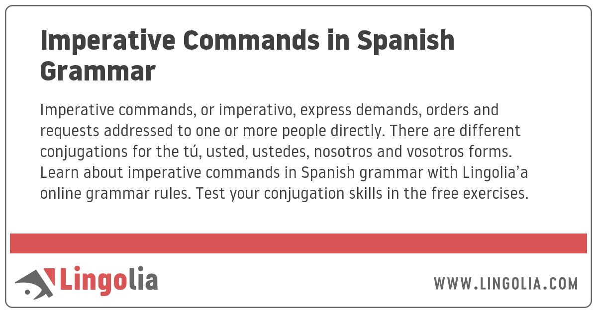 Imperative Commands in Spanish Grammar
