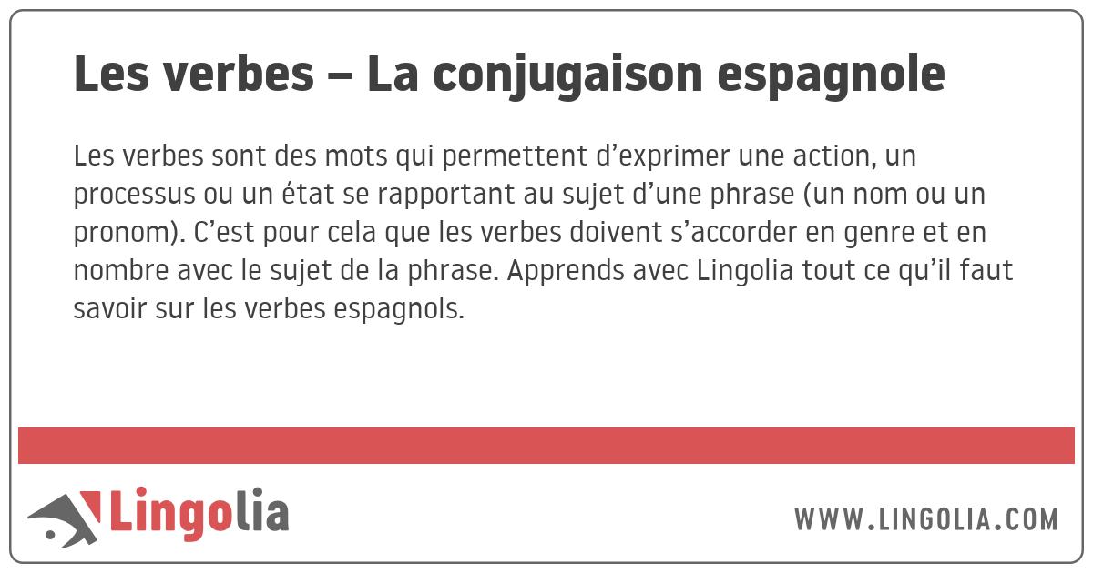Les Verbes La Conjugaison Espagnole