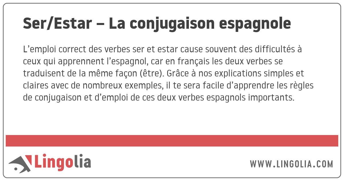 Ser Estar La Conjugaison Espagnole